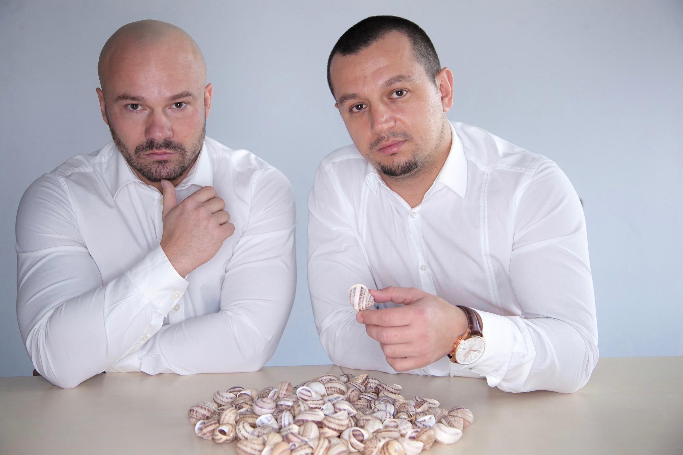 Damian Gajewski (z lewej), prezes zarządu Polish Snail Holding i Paweł Piwowarski